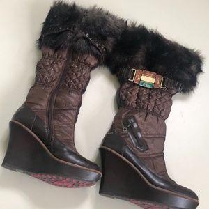 Baby Phat Brown Boots 8.5B Women